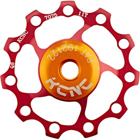 KCNC Jockey Wheel 11 zębów, łożyko SS, red